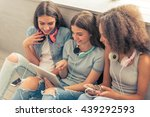 Group Of Teenage Girls With...