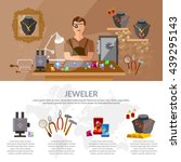jewelry infographics  jewels... | Shutterstock .eps vector #439295143