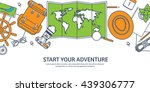 travel tourism vector... | Shutterstock .eps vector #439306777