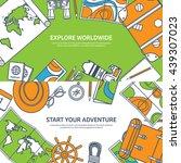 travel tourism vector... | Shutterstock .eps vector #439307023