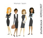 set of four business woman ... | Shutterstock .eps vector #439311907