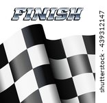 finish background  checkered ... | Shutterstock .eps vector #439312147