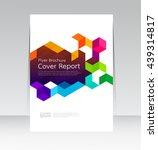 vector design for cover report... | Shutterstock .eps vector #439314817