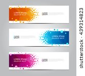 vector design banner background.... | Shutterstock .eps vector #439314823