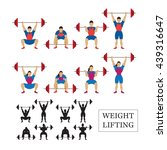 weightlifting athlete  men and... | Shutterstock .eps vector #439316647