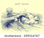 surf waves. sea waves graphic.... | Shutterstock .eps vector #439316767