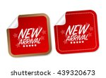 new arrival stickers | Shutterstock .eps vector #439320673