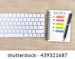 smart and goals setting with... | Shutterstock . vector #439321687
