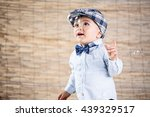 baby boy with gentleman outfit... | Shutterstock . vector #439329517