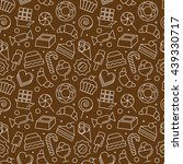 seamless pattern with different ... | Shutterstock .eps vector #439330717