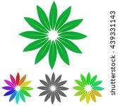 green leaves logo icon symbol...