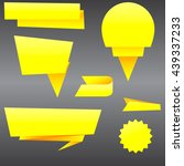 origami of yellow paper. paper... | Shutterstock .eps vector #439337233