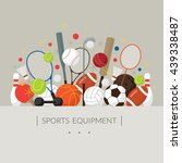 sports equipment  flat icons... | Shutterstock .eps vector #439338487
