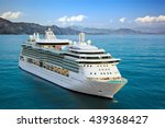 luxury cruise ship sailing from ... | Shutterstock . vector #439368427