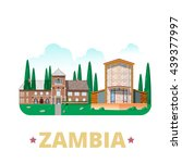 zambia country design template. ... | Shutterstock .eps vector #439377997