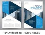 business brochure flyer design...   Shutterstock .eps vector #439378687