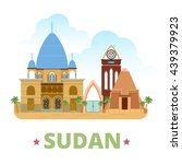 sudan country flat cartoon...