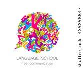 language school logo template.... | Shutterstock .eps vector #439398847