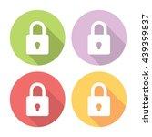 lock protection symbol flat...