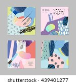 set of cards and posters with... | Shutterstock .eps vector #439401277