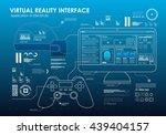 hud portable virtual reality... | Shutterstock .eps vector #439404157