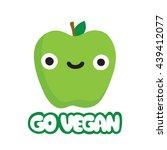 cute cartoon smiling green... | Shutterstock .eps vector #439412077