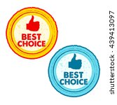 best choice and thumb up signs  ... | Shutterstock .eps vector #439413097