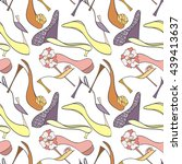 seamless shoes pattern can be