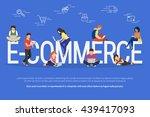 e commerce concept illustration ... | Shutterstock .eps vector #439417093