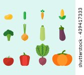 vector vegetables isolated on...