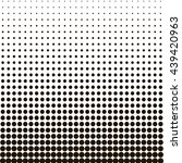 halftone dots  black dots on... | Shutterstock .eps vector #439420963