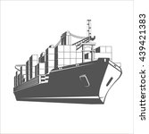 container ship. | Shutterstock .eps vector #439421383