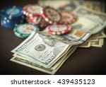 Casino Us Dollars Money With...