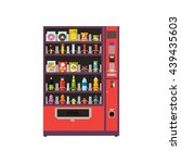 vending machine product items... | Shutterstock .eps vector #439435603