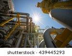 offshore construction platform... | Shutterstock . vector #439445293