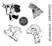 livestock sketch | Shutterstock .eps vector #439455433