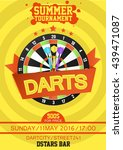 darts tournament poster....