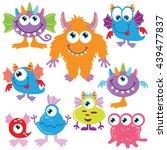 funny monster vector... | Shutterstock .eps vector #439477837