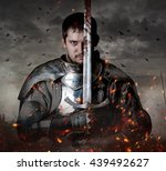 Portrait Of A Knight With Swor...