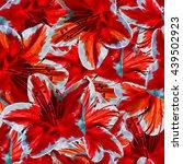 seamless background. flowers.... | Shutterstock . vector #439502923