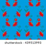seamless geometric pattern with ... | Shutterstock .eps vector #439513993