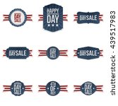 independence day realistic... | Shutterstock .eps vector #439517983