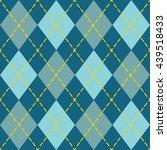 Trendy Blue Argyle Seamless...