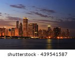 chicago skyline panorama at dusk | Shutterstock . vector #439541587