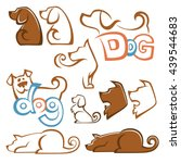 lovely pets  vector collection... | Shutterstock .eps vector #439544683