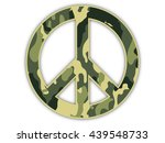jungle camouflage peace sign | Shutterstock . vector #439548733