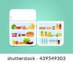 open fridge white flat design... | Shutterstock .eps vector #439549303