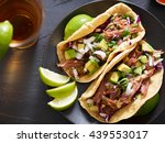 tasty pork street tacos with... | Shutterstock . vector #439553017