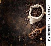 coffe composition on dark... | Shutterstock . vector #439555537