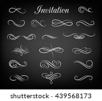Vintage ornate frames, decorative ornaments, flourish and scroll elements. Hand Drawn Vector Flourishes, Accent Text, Brackets and Ampersand | Shutterstock vector #439568173